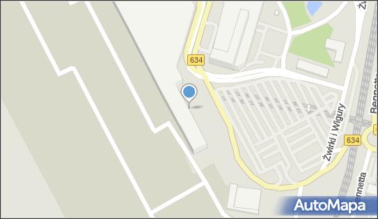 Terminal autokarowy, DW 634, Franciszka Żwirki i Stanisława Wigury - Dworzec autobusowy