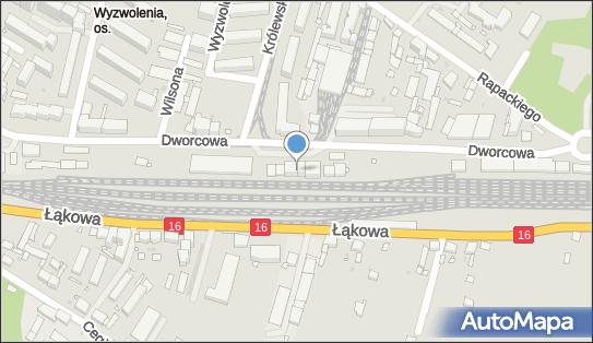 Grudziądz, Dworcowa 40, Grudziądz 86-300 - Dworzec kolejowy, Przystanek kolejowy