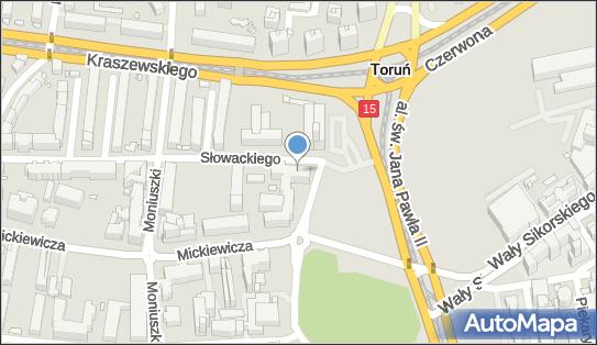 Dom Studencki nr 6, ul. Słowackiego 1, Toruń - Hotel, numer telefonu