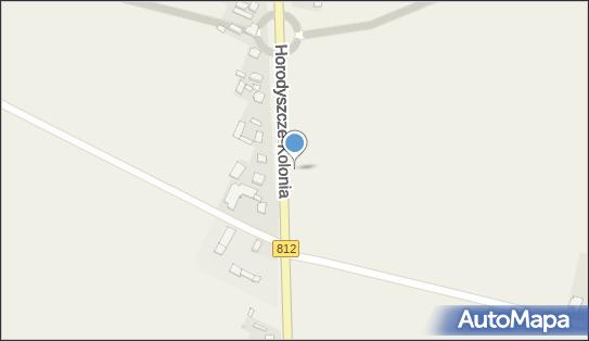 Metalowy krzyż, DW 812, Horodyszcze-Kolonia - Kapliczka, Figura Świętych, Krzyż