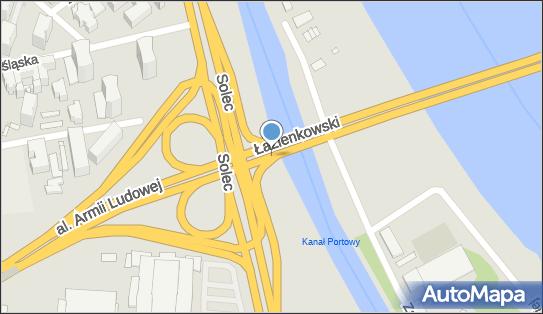 Kontrola Policji, pomiar prędkości, Most Łazienkowski, Warszawa - Kontrola Policji, pomiar prędkości