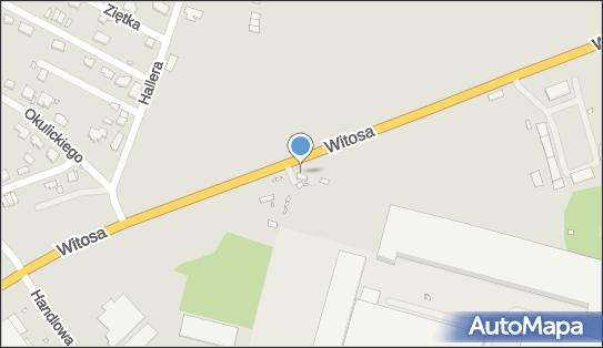 Radar, pomiar prędkości, Witosa Wincentego78, Zabrze 41-814 - Kontrola Policji, pomiar prędkości