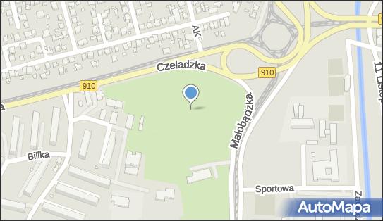 Park Dolna Syberka, DW 910, Czeladzka, Będzin - Park, Ogród