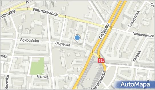 1 miejsce, Słupecka 4, Warszawa 02-309 - Parking dla niepełnosprawnych