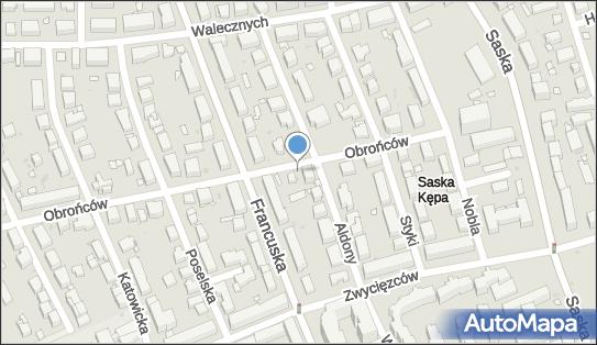1 miejsce, Obrońców 24, Warszawa 03-927 - Parking dla niepełnosprawnych