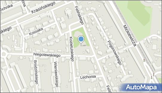 Plac zabaw, Ogródek, Niegolewskiego Władysława, Warszawa 01-570 - Plac zabaw, Ogródek