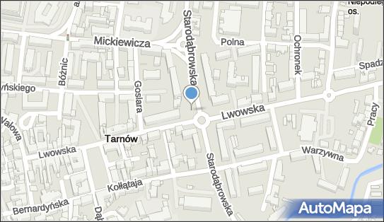 Parking Płatny-niestrzeżony, Starodąbrowska, Tarnów 33-100 - Płatny-niestrzeżony - Parking