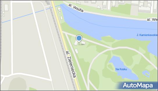 Parking Płatny-niestrzeżony, Aleja Zieleniecka, Warszawa - Płatny-niestrzeżony - Parking