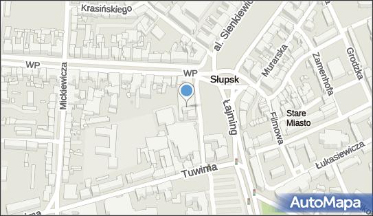 Parking Płatny-strzeżony, Stefana Starzyńskiego 3, Słupsk - Płatny-strzeżony - Parking