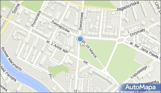 Strefa płatnego parkowania, Dworcowa 10, Kołobrzeg 78-100 - Strefa płatnego parkowania