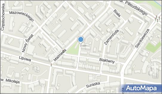 Strefa płatnego parkowania, Spółdzielcza, Białystok 15-441 - Strefa płatnego parkowania