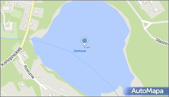 jez. Zamkowe, Rzeczna, Tuczno 78-640 - Zbiornik wodny