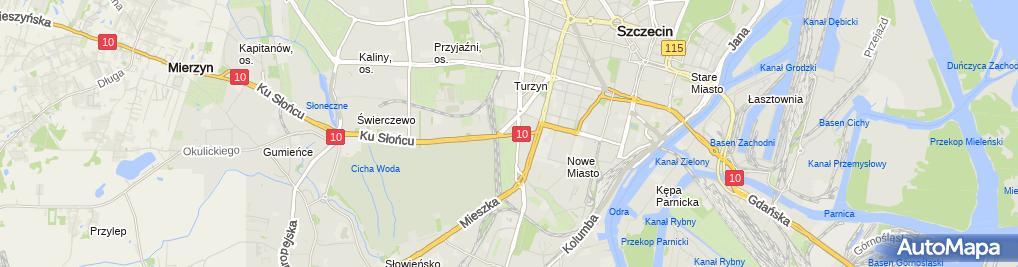 Zdjęcie satelitarne Administracja mieszkaniowa