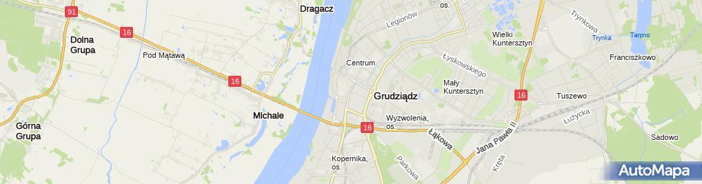 Zdjęcie satelitarne Administracja Nieruchomości E Łaszewski D Łaszewska A Sawicka