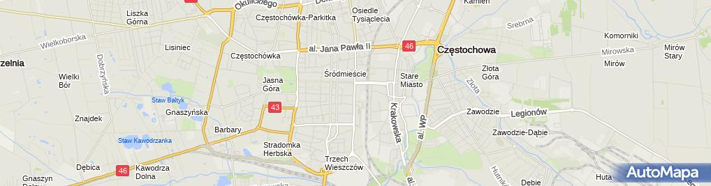 Zdjęcie satelitarne Agata Stach Firma Produkcyjno-Handlowo-Usługowa