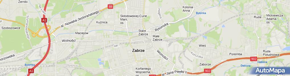 Zdjęcie satelitarne Bogumiła Sokołowska - Działalność Gospodarcza
