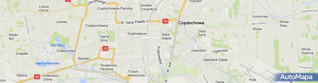 Zdjęcie satelitarne Dzierżawa Lokalu Użytkowego Andrzej Guzik