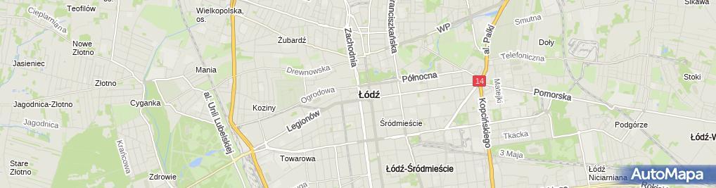 Zdjęcie satelitarne Gabriela Sławińska - Działalność Gospodarcza