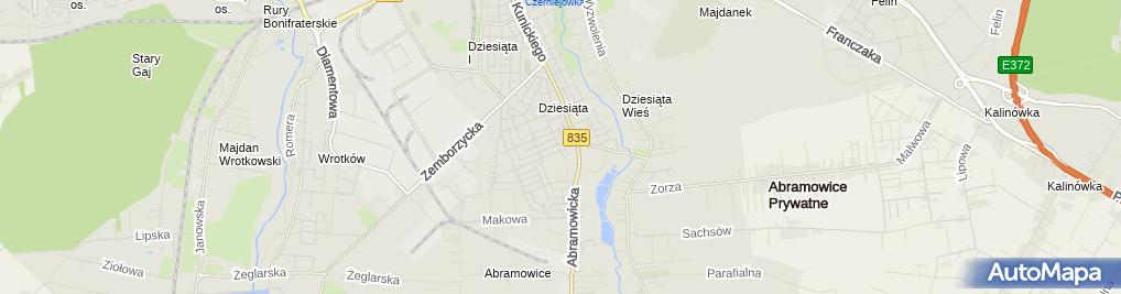 Zdjęcie satelitarne Konrad Lubiński - Działalność Gospodarcza