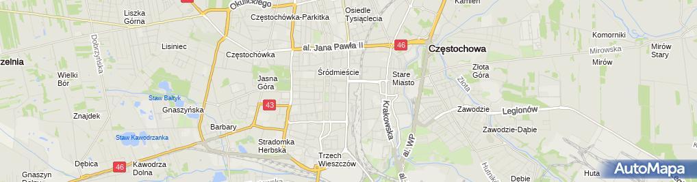 Zdjęcie satelitarne Mariusz Korzeniec Firma Produkcyjno-Handlowo-Usługowa