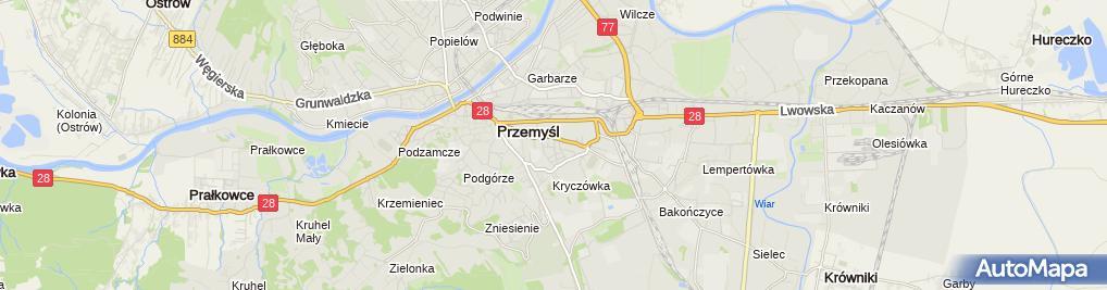 Zdjęcie satelitarne Najemj Lokalu Emma Łubińska