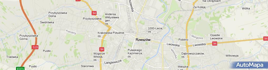 Zdjęcie satelitarne Park Handlowy Rzeszów Studio CTP