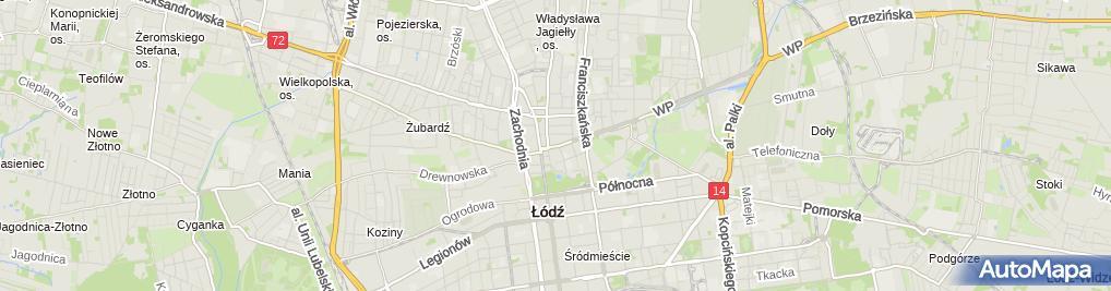 Zdjęcie satelitarne Przedsiębiorstwo Produkcyjno Usługowo Handlowe Gryf Magdalena Rybacka Jarosław Rybacki