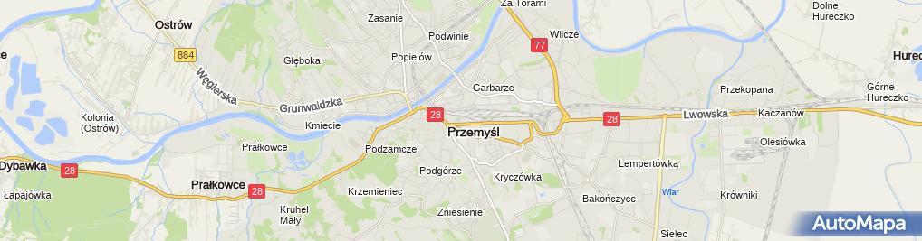 Zdjęcie satelitarne Przedsiębiorstwo Produkcyjno Usługowo Handlowe Jawor