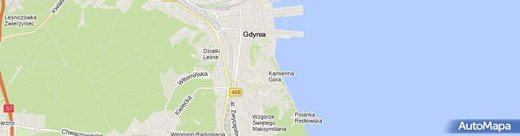 Zdjęcie satelitarne Ryszard Sobiecki Firma Projektowo-Wykonawcza Budownictwa 'Fundament-Specjal