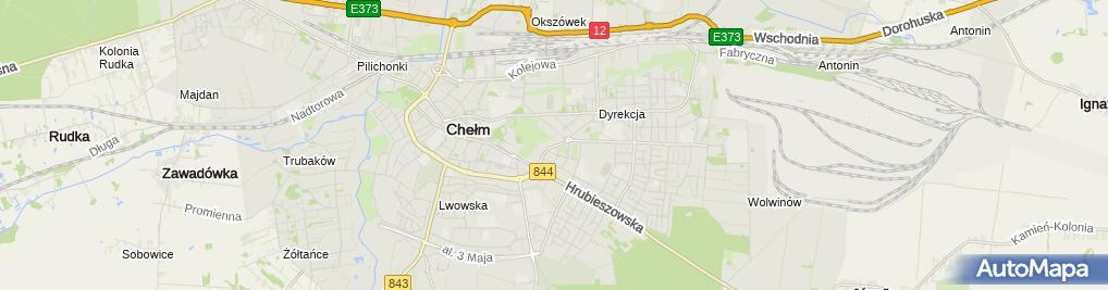 Zdjęcie satelitarne Wspólnota Mieszkaniowa przy ul.Żwirki i Wigury 8 w Chełmie