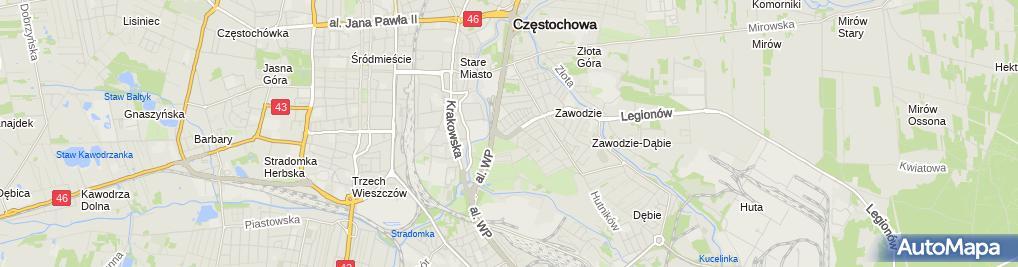 Zdjęcie satelitarne Drugi Urząd Skarbowy w Częstochowie