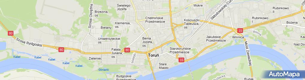 Zdjęcie satelitarne Pierwszy Urząd Skarbowy w Toruniu