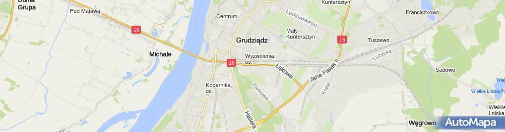 Zdjęcie satelitarne Urząd Skarbowy w Grudziądzu