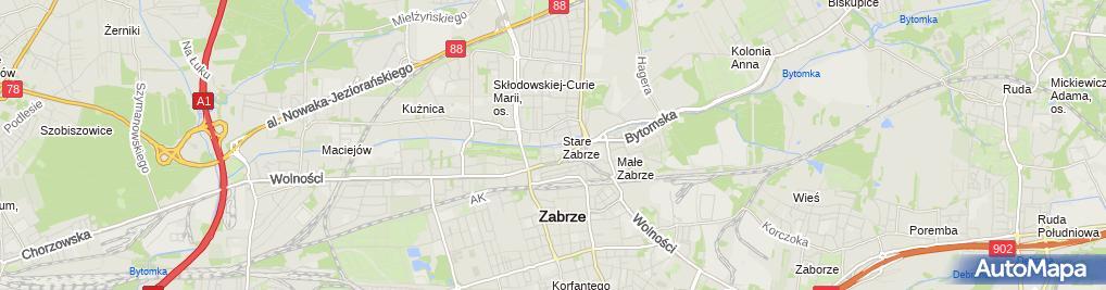 Zdjęcie satelitarne Śląska Akademia Medyczna