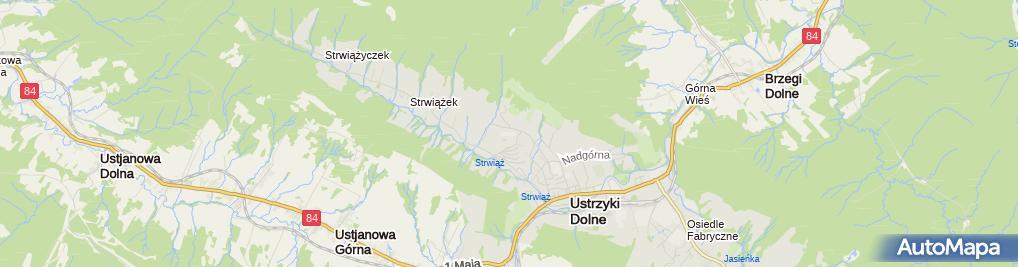 Zdjęcie satelitarne Bieszczadzka Bursa Szkolna