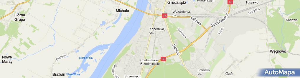 Zdjęcie satelitarne Bursa Szkolna Caritas Diecezji Toruńskiej Im. Kard. Stefana Wyszyńskiego