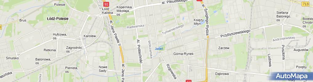 Zdjęcie satelitarne IX Dom Studenta Politechniki Łódzkiej