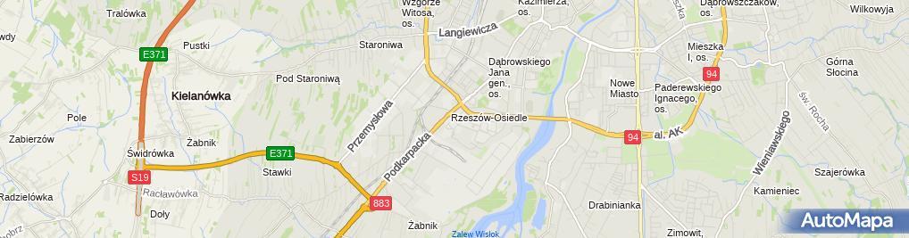 Zdjęcie satelitarne Rzeszowska Bursa Szkolna