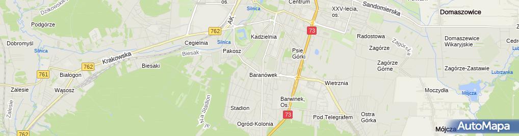 Zdjęcie satelitarne Flesz. PW . Autoalarmy