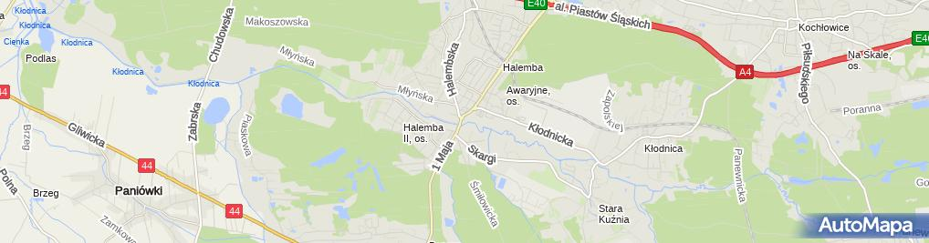 Zdjęcie satelitarne Aldi - Supermarket