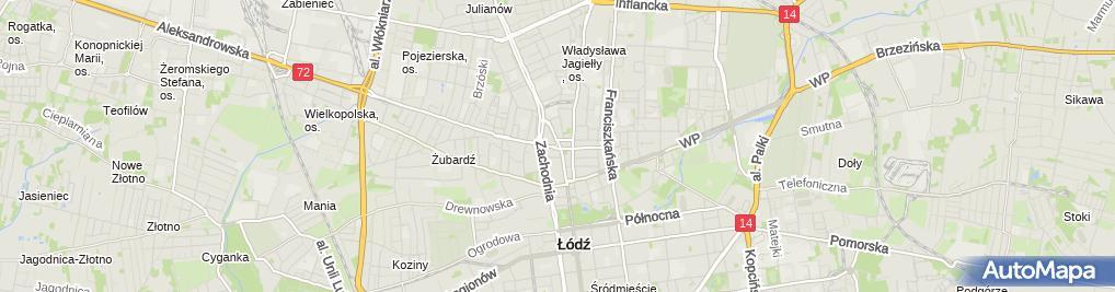 Zdjęcie satelitarne Apteka Kwiaty Polskie