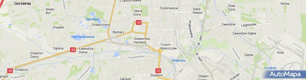 Zdjęcie satelitarne Apteka Miodowa