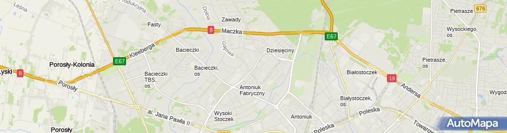Zdjęcie satelitarne Apteka Viola