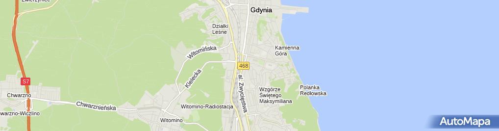 Zdjęcie satelitarne Franciszkańska