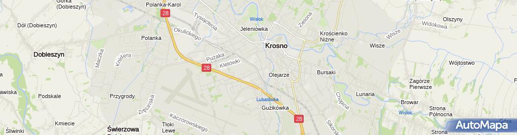 Zdjęcie satelitarne Archi-Wizja Usługi Projektowe Architekt Monika Śmiarowska-Rodzin