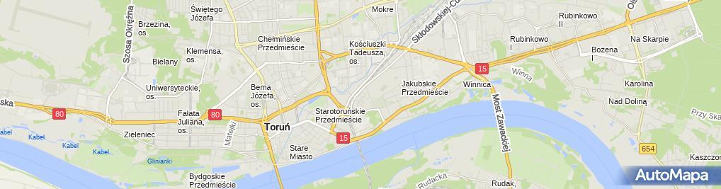 Zdjęcie satelitarne Autorska Pracownia Projektowa architekt Zbigniew Rudólff