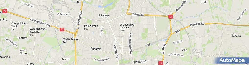 Zdjęcie satelitarne Autorska Pracownia Projektowa Architektury i Wnętrz