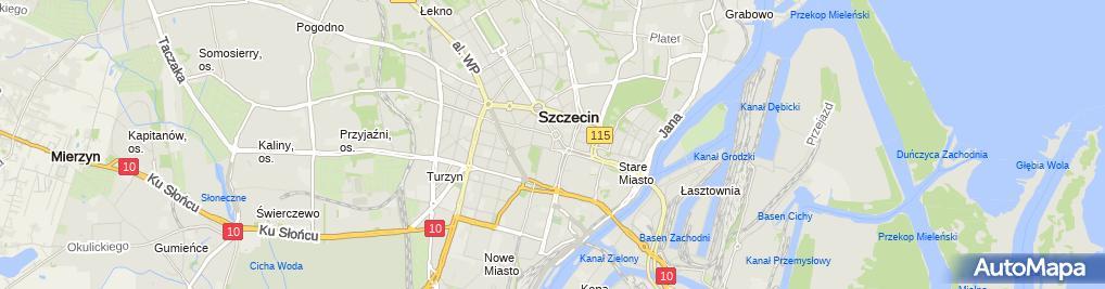 Zdjęcie satelitarne Biuro Architektoktoniczne Makowski, Sołdek