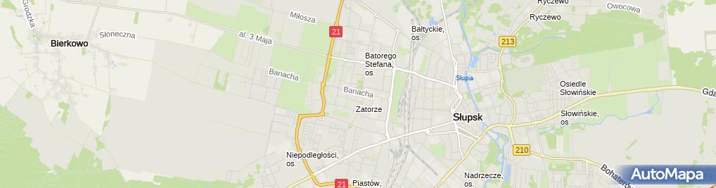 Zdjęcie satelitarne Biuro Projektów - Architekt Mariola Rosa