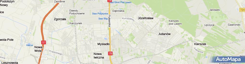 Zdjęcie satelitarne KJ.Architekt Kamila Jędrzejewska